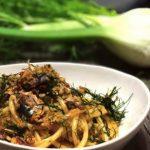 """フィノッキオと鰯のシチリア伝統パスタ""""Pasta con le sarde""""!!"""